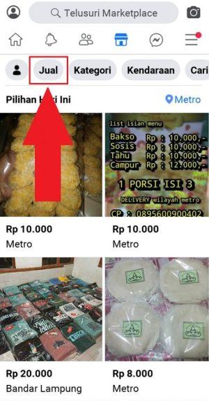 "Pilih ""Jual"" untuk menjual produk di Marketplace"