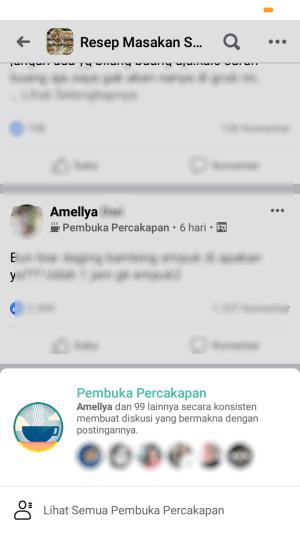 lencana pembuka percakapan di grup facebook