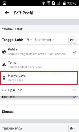 Halaman Edit Profile 2