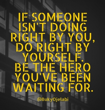 do right by yourself