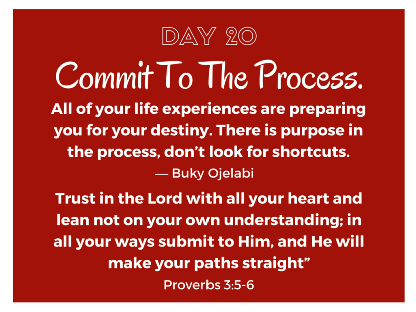 Commit To The Process