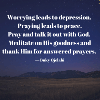 Pray And Talk It Out With God