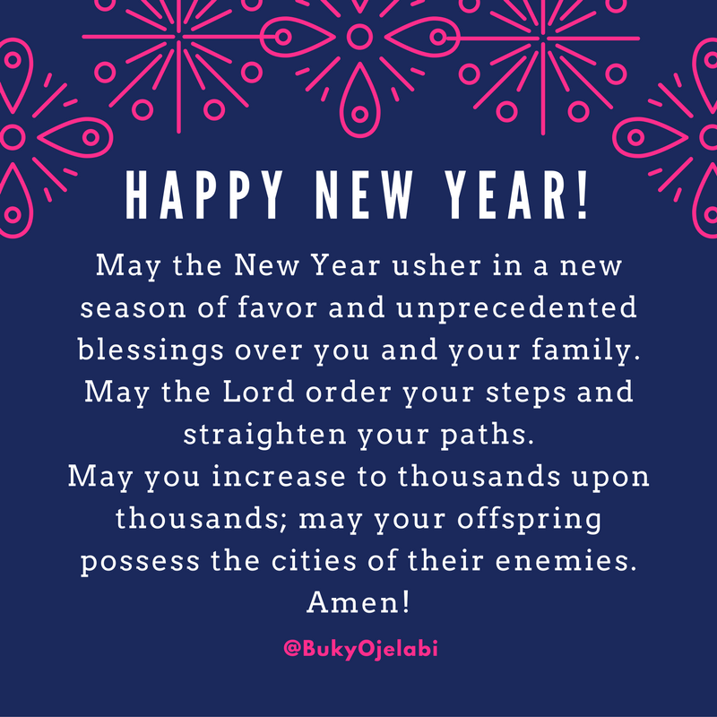 A New Year\'s Prayer For You | Buky Ojelabi