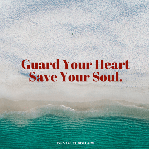 Guarding My Heart and Soul.