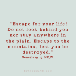 Flee For Your Life And Don't Look Back!
