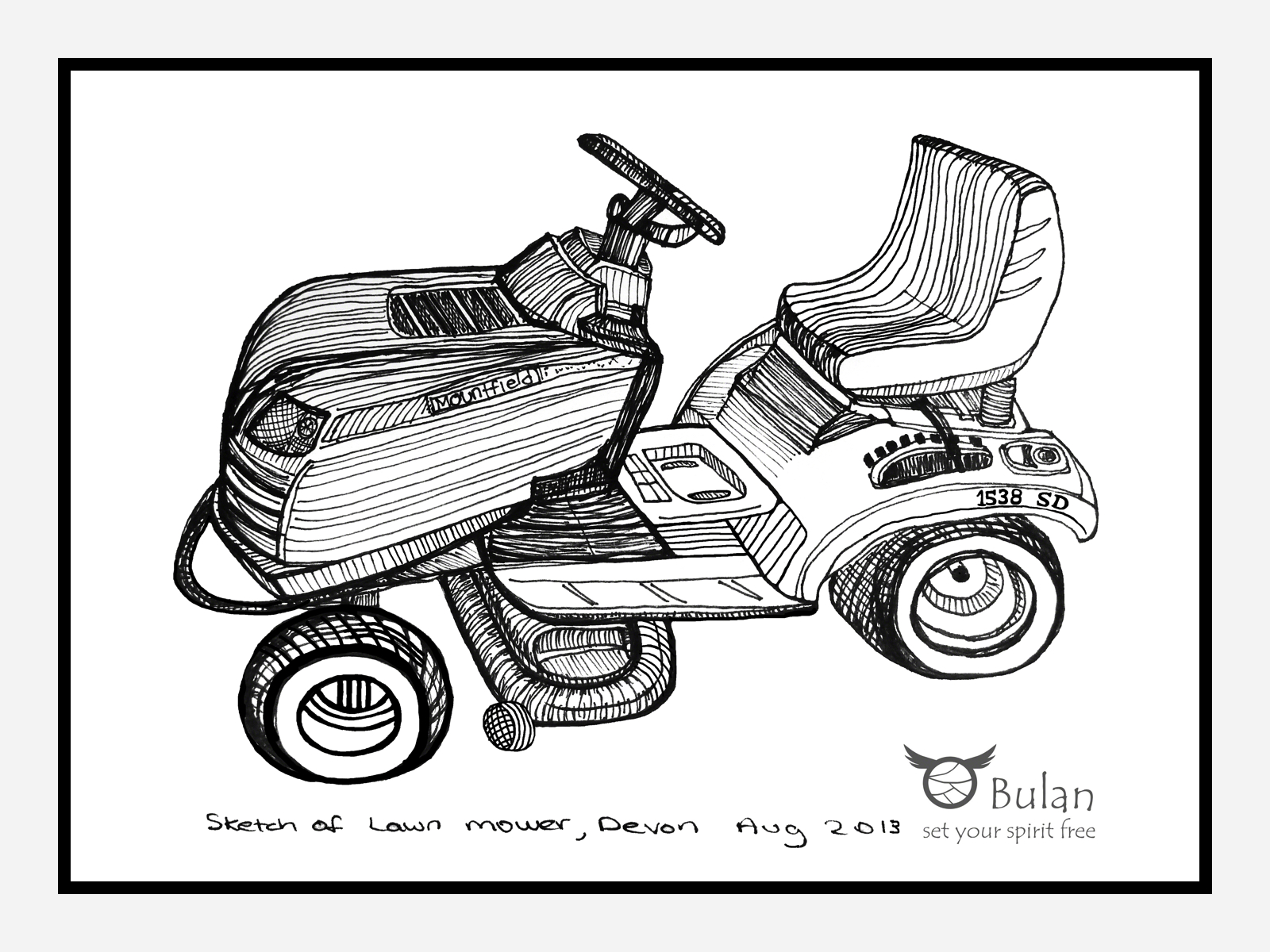Lawnmower Sketch Templates