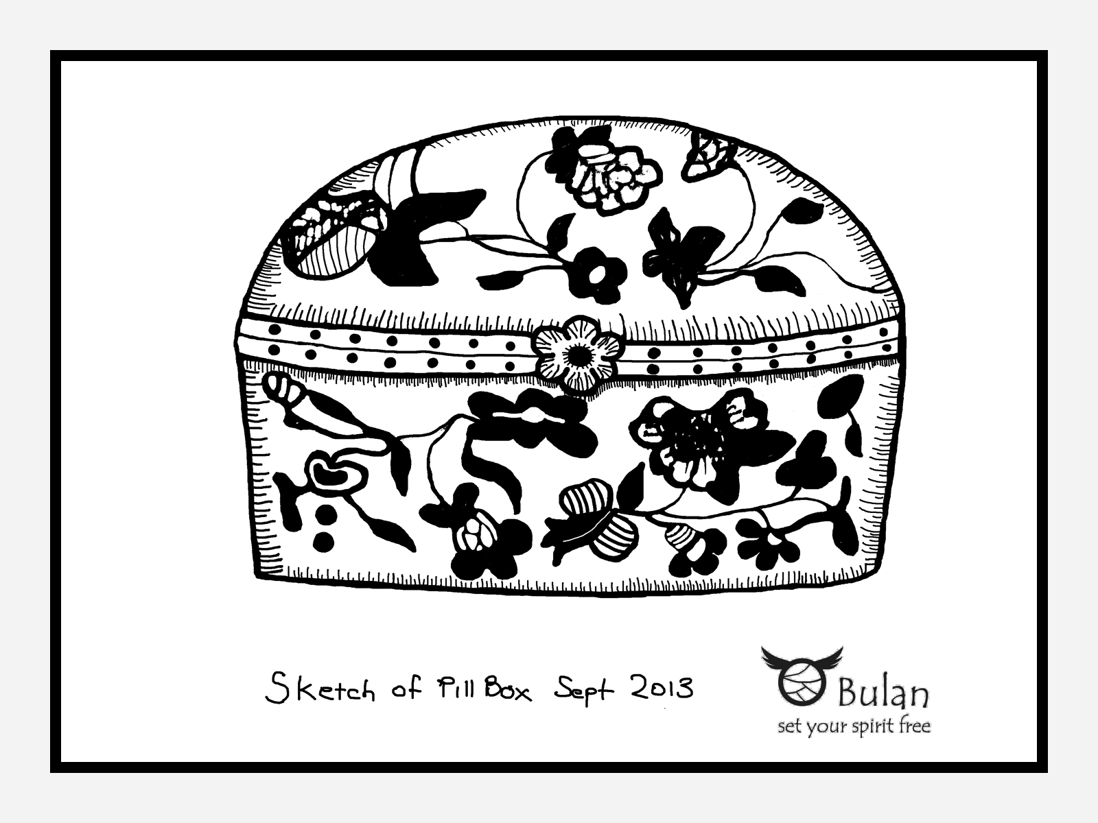Sketch Of The Day No 138 Pill Box Bulanlifestyle