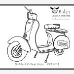 Sketch Of The Day 182 Vintage Vespa Bulanlifestyle Com