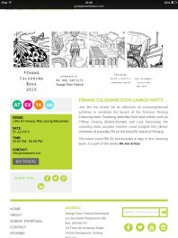 Penang colouring book by We Are Artist for George Town Festival, Penang, Malaysia