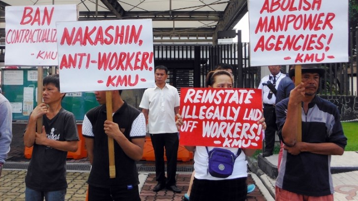 Japanese embassy picketed over Nakashin workers' contractualization