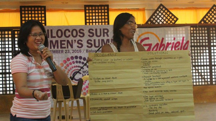 Women of Ilocos Sur call for 'CHANGE'