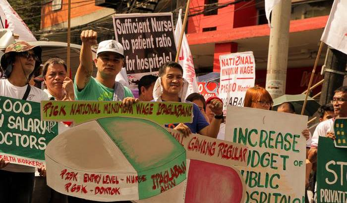 Health workers day   Groups reiterate calls for increased budget for health services, wages
