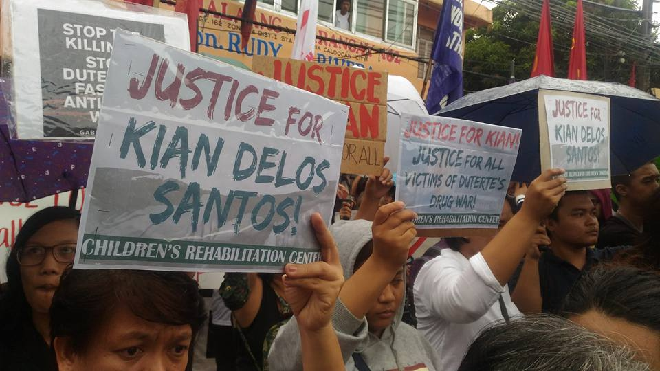 'Justice for Kian' | Groups rally for slain victims of War on Drugs