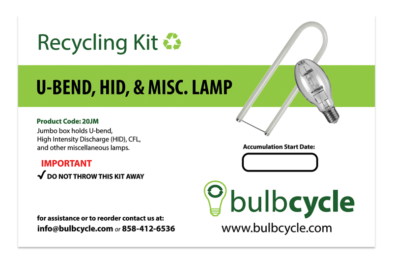 BulbCycle misc. recycling kit jumbo label