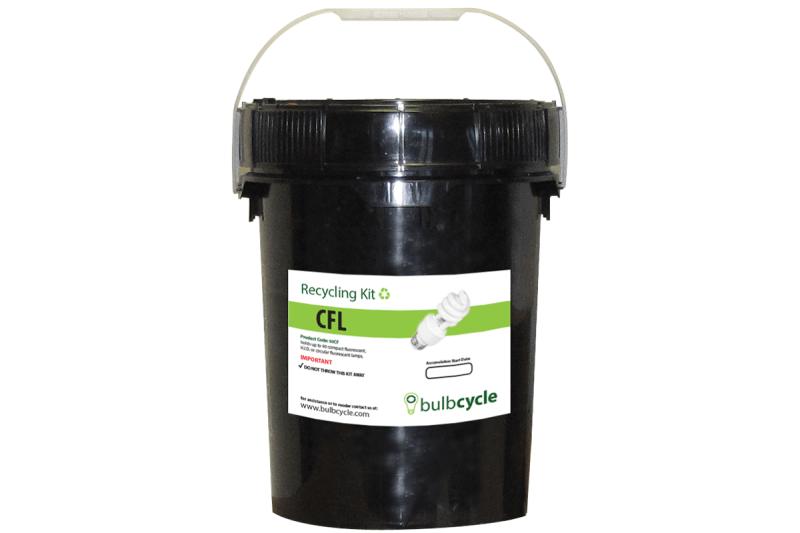 Bulbcycle CFL lightbulb 5 Gallon recycling kit