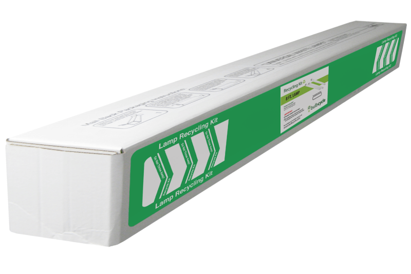 BulbCycle 8 foot fluorescent lamp recycling kit standard