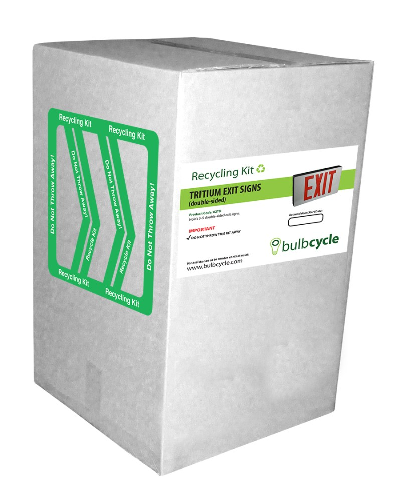 Tritium Exit Sign Recycling Kit (Double Sided Signs)