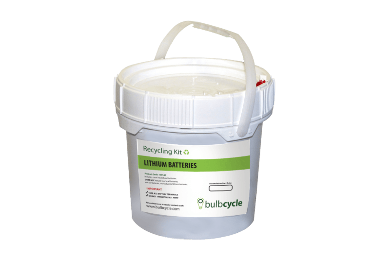 lithium battery recycling kit - 10pblt 1 gallon
