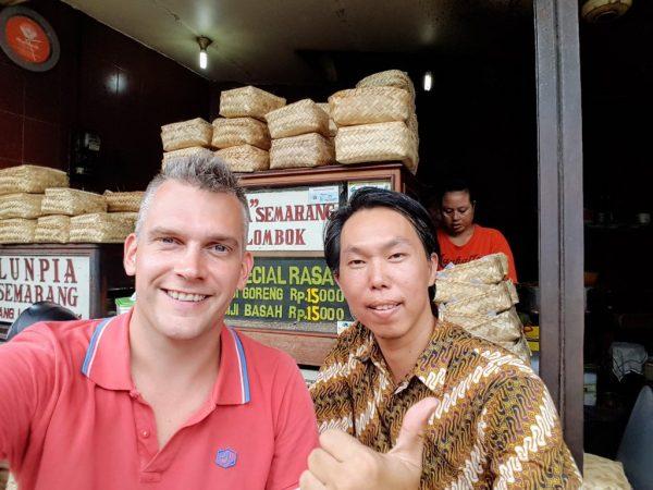 With Ko at Gang Lombok