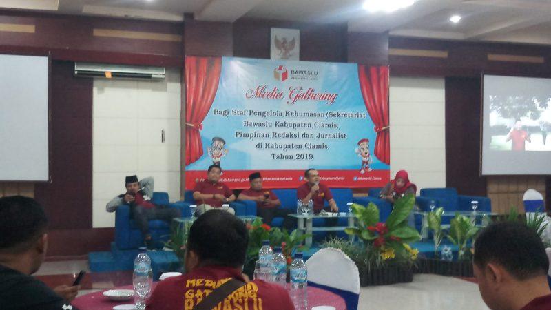 Membangun Sinergitas Melalui Media Gathering Bersama Bawaslu Ciamis