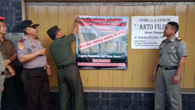 Muspika Kota Banjar, Cabut Spanduk Penolakan Pendirian Tempat Peribadahan.