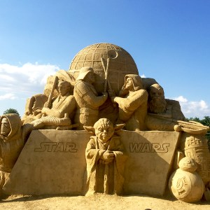 Burgas Sandfest Star wars hiekkaveistos