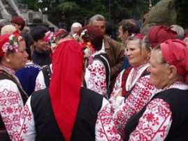 Folk dancers at Koprivshtitsa