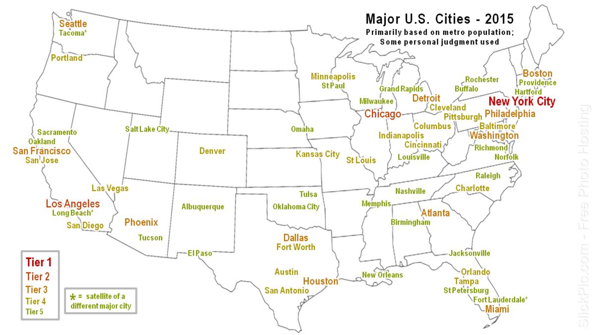 Map Of Major U S Cities State Better Largest Atlanta City Vs City City Data Forum
