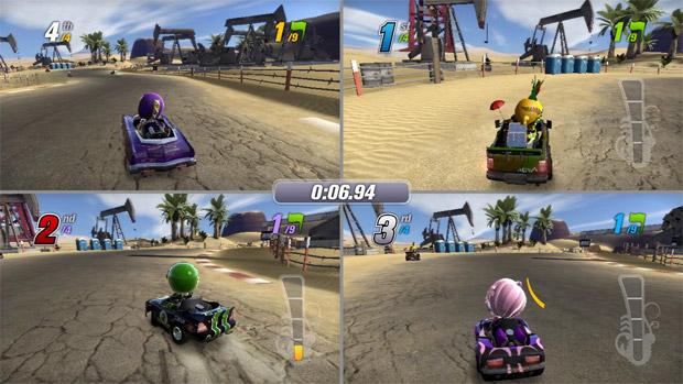 Four Player Split Screen ModNation Racers Has It