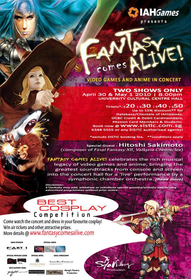 Game Music Concert Fantasy Comes Alive