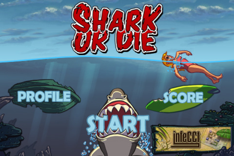 Become a shark in Shark or Die for the iPhone, iPad photo