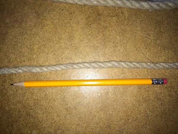 6MM Rope - Hemp - with a Pencil