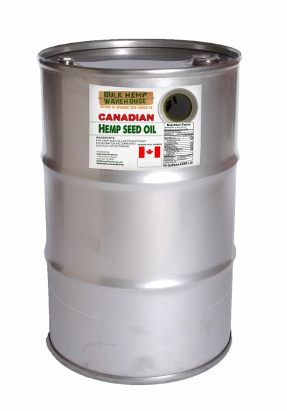 Hemp Seed Oil 50 Gallons 200 Liters Canadian