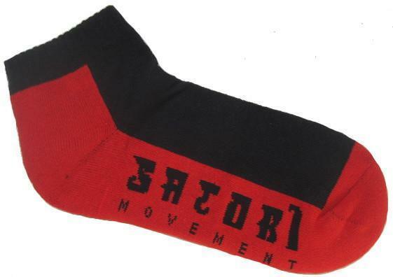 Satori Movement Hemp Crew Ankle Socks - Red & Black