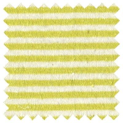 Hemp Cotton Jersey Knit Fabric - 7oz Yellow Stripe