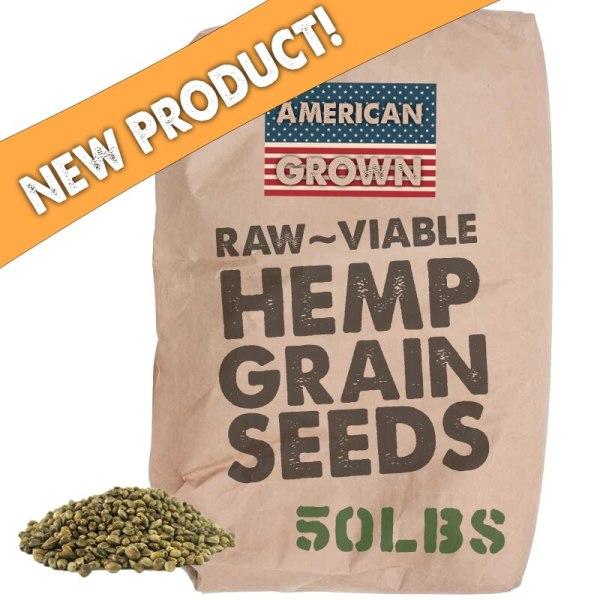 Bulk Wholesale Raw Viable Sprouting Hemp Grain Seeds - 50lb