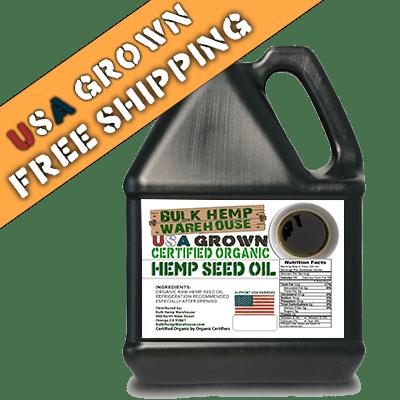 USA Organic Hemp Seed Oil - 1 Gallon - FREE SHIPPING