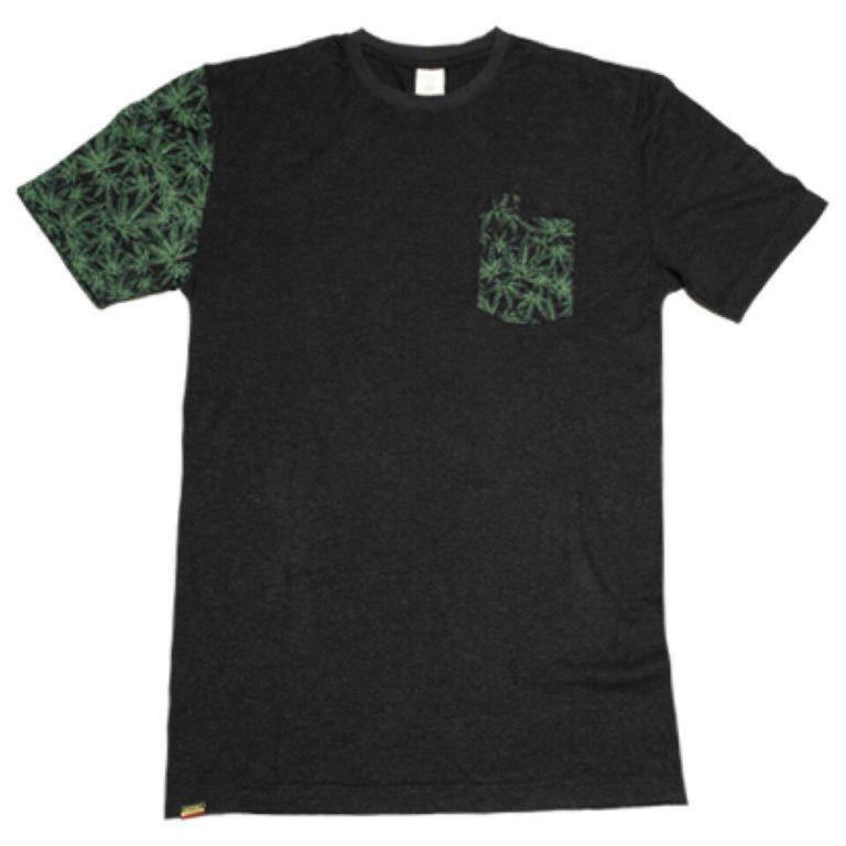 Canna Print Pocket T-shirt