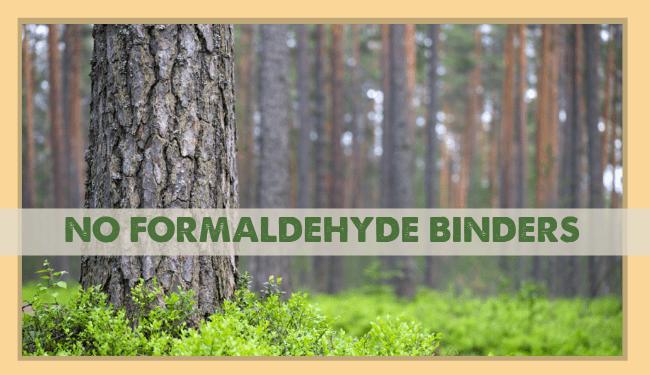 HempBoard uses NO Formaldehyde Binders