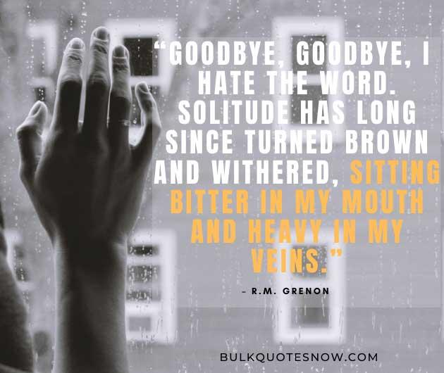emotional farewell sayings
