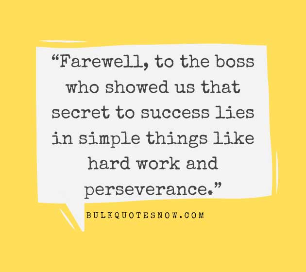 farewell to the boss