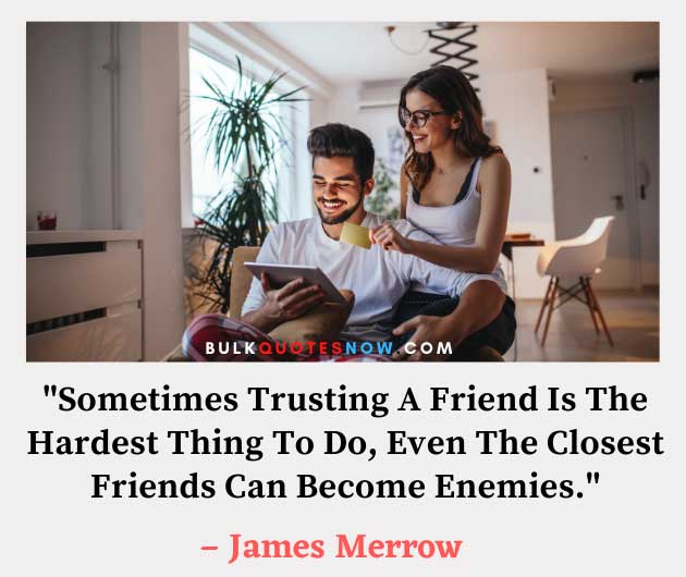 trust issues with friends