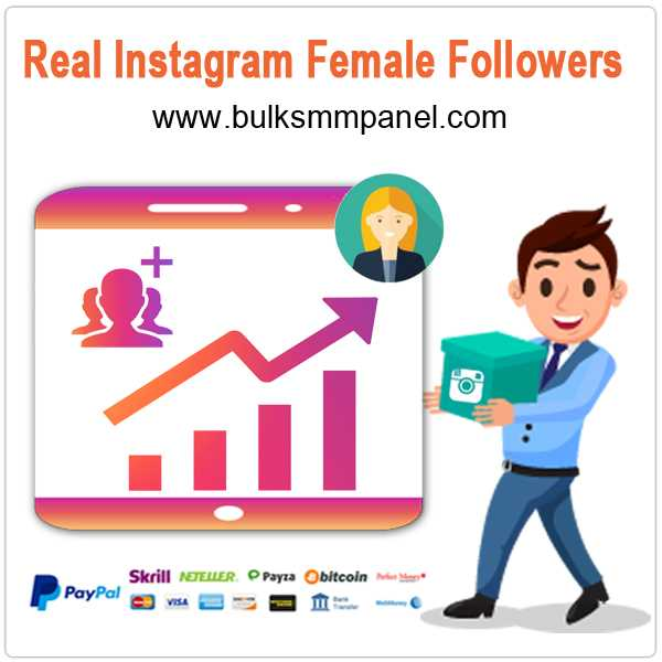 Real Instagram FEMALE Followers