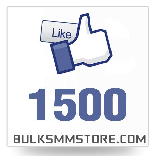 Real 1500 Facebook Page Likes