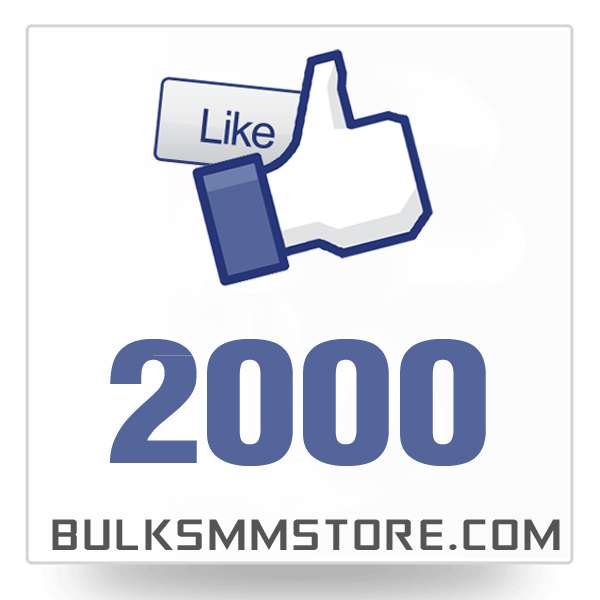 Real 2000 Facebook Page Likes