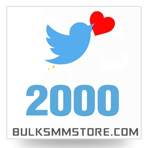 Real 2000 Twitter Likes