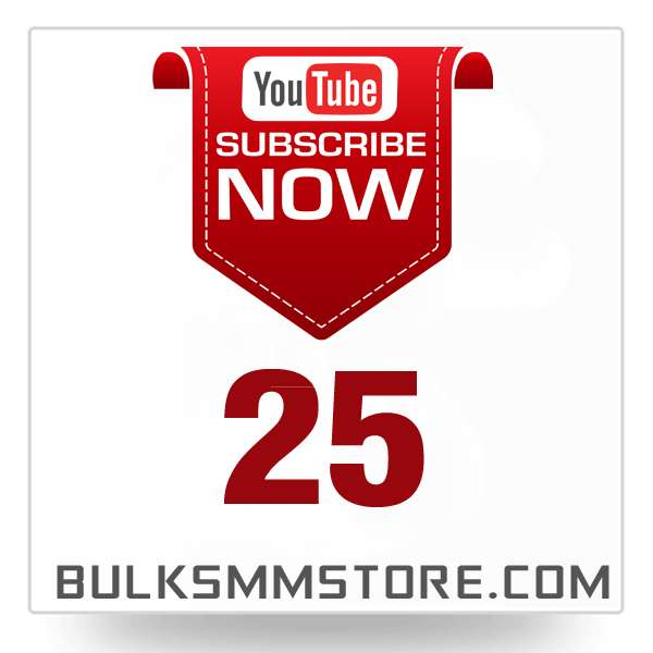 Real 25 Youtube Subscriber
