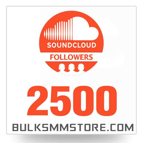 Real 2500 Soundcloud Followers