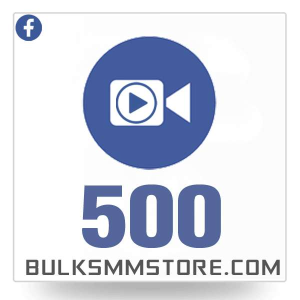 Real 500 Facebook Video Views