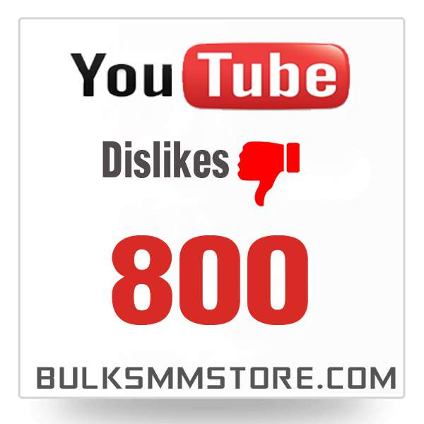 Real 800 Youtube Dislikes